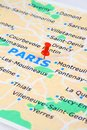Paris map Royalty Free Stock Images