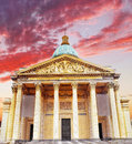 Paris the mausoleum pantheon france Royalty Free Stock Image