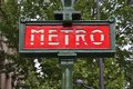 Paris metro france retro station sign subway train entrance Royalty Free Stock Photography