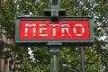 Paris metro Royalty Free Stock Photo