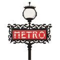 Paris metro sign vector Royalty Free Stock Photo