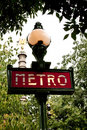 Paris Metropolitain sign Royalty Free Stock Photos