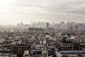 Paris from montmartre aerial view cityscape of Stock Photo
