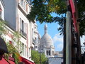 Paris montmartre basilic in awesome Royalty Free Stock Photos