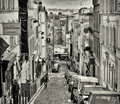 Paris, Montmartre Street Stock Images