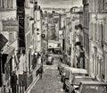 Paris, Montmartre Street Royalty Free Stock Photo