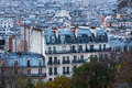 Paris from montmartre view of sacre coeur terrace Royalty Free Stock Photography