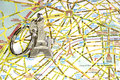 Paris monuments map Royalty Free Stock Photo