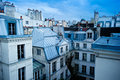 Paris neighborhood skyline Stock Images