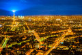 Paris at night aerial view of france Royalty Free Stock Photography
