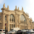 Paris north station gare du nord outside view of france serve about million per year the busiest railway in europe Royalty Free Stock Photography