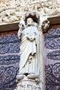 Paris notre dame de paris view of the most famous cathedral france Stock Images