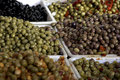 Paris olives at the market Royalty Free Stock Photo