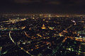 Paris overview photo taken from eiffel tower at night Stock Photo