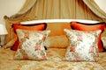 PARIS: Palace hotel bed Royalty Free Stock Photo