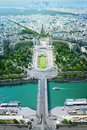 Paris panorama of from eiffel tower Royalty Free Stock Photography