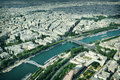 Paris panorama of from the eiffel tower france Stock Images