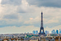 Paris panorama of from tower business district la defense in the background france Royalty Free Stock Photos