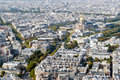 Paris, panoramic view on Les Invalides from Montpa Royalty Free Stock Photo