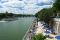 Paris plages beaches the seine riverbanks transformed into for some weeks during the summer france Stock Image