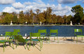 Paris Pond in Fall Royalty Free Stock Image