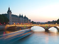 Paris pont au change view to with court of cassation Stock Photography