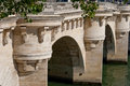 Paris, Pont Neuf detail Royalty Free Stock Photos