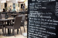 Paris France French restaurant street cafe menu board Royalty Free Stock Photo