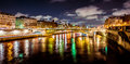 Paris river at night Royalty Free Stock Photo