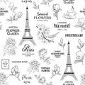 Paris romantic seamless pattern.