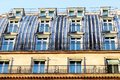 Paris roof of zinc with a large number of windows Royalty Free Stock Photo
