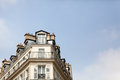 Paris Roofline Against a Blue Sky Stock Photo