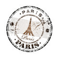 Paris rubber stamp Royalty Free Stock Photo
