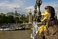 Paris's Pont Alexandre III and Grand Palais Royalty Free Stock Photography