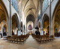 Interiors and details of Saint Germain l Auxerrois church - Paris - France Royalty Free Stock Photo