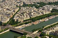 Paris and Seine river Stock Images