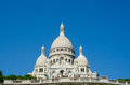 The paris - september 12, 2012: basilique du sacre coeur on september 12 in paris, france. basilique du sacre coeur is Royalty Free Stock Photo