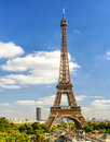 Paris skyline with Eiffel tower Royalty Free Stock Photo