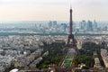 Paris skyline panorama Royalty Free Stock Photo