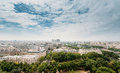 Paris skyline river seine and left bank seen from eiffel tower france Stock Photography