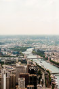 Paris skyline river seine and left bank seen from eiffel tower france Stock Images