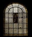 Paris: stained glass window at Saint sulpice churc Royalty Free Stock Image
