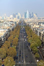 Paris Street Aerial View Stock Images