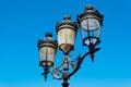 Paris street lamp detail Royalty Free Stock Photo