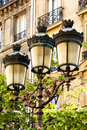 Paris Street Lamps Stock Images