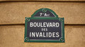 Paris street sign. Royalty Free Stock Photo