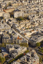 Paris streets  from above Stock Photos