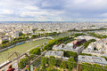 Paris from top aug view of eiffel tower france Stock Image