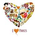 Paris Touristic Poster Royalty Free Stock Photo
