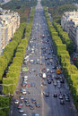 Paris traffic Stock Photography